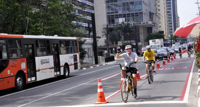 Parking para las bicicletas en San Pablo Brasil