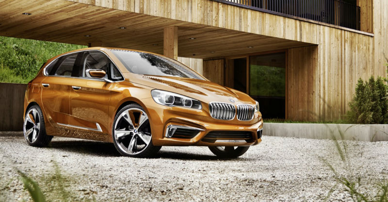 Automóvil para ciclistas - bmw concept active tourer outdoor