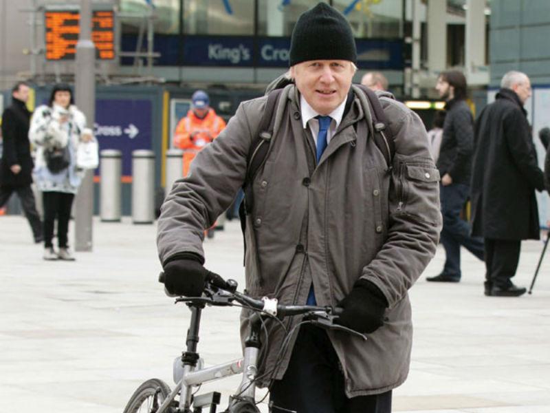 Boris Johnson - Promotor de las bicicletas en Londres