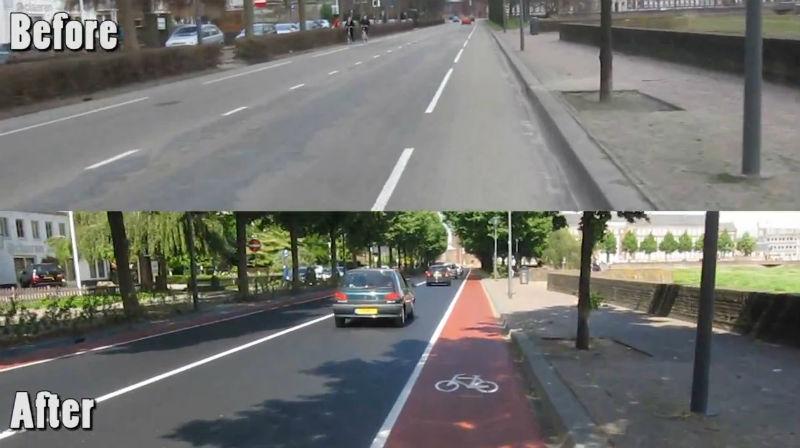 Ciclovías en Holanda - Ciclovías en el mundo - Antes y Después