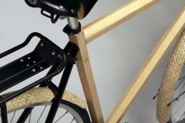 bicicleta de bambú y fibra de carbono