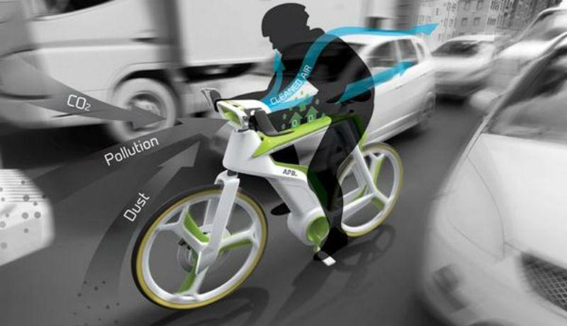 Air Purifier Bike bicicleta innovadora del futuro - Bicis concepto Lightfog Creative