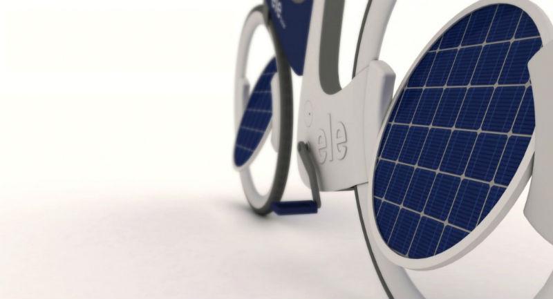Ele bicicleta solar - Bicicleta eléctrica prototipo