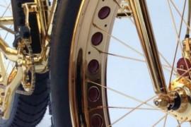 La Bicicleta BMX más cara del mundo es de oro y se fabricó en Estados Unidos