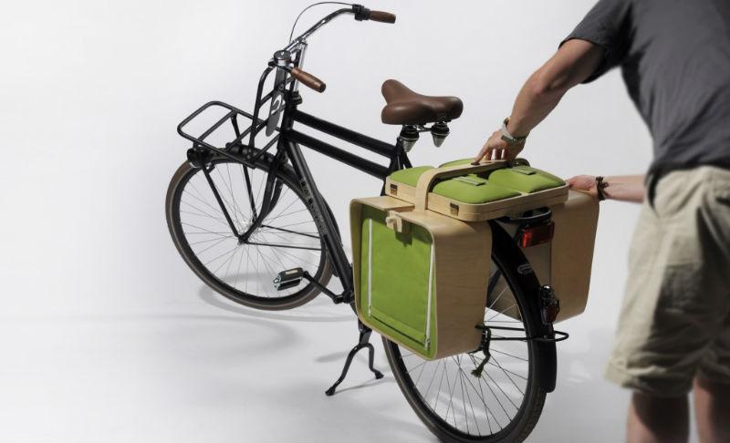 Springtime - alforja para bicicletas se hace mesa - revista en bici