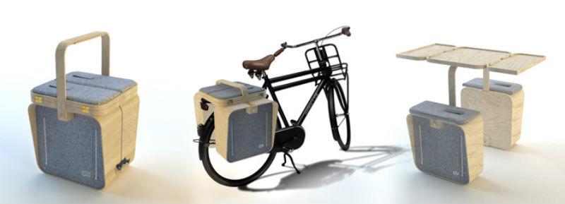 Springtime - alforja para bicicletas se hace mesa - revista