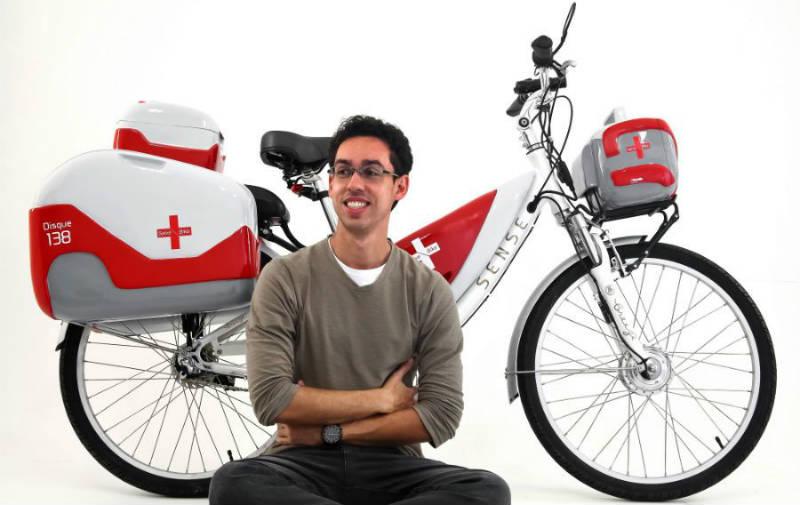 Salve Bike bicicleta ambulancia Gabriel Delfino Araujo