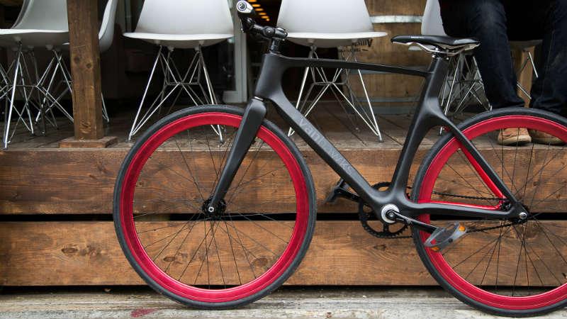 Bicicleta de fibra de carbono inteligente Vanhawks Smartbike