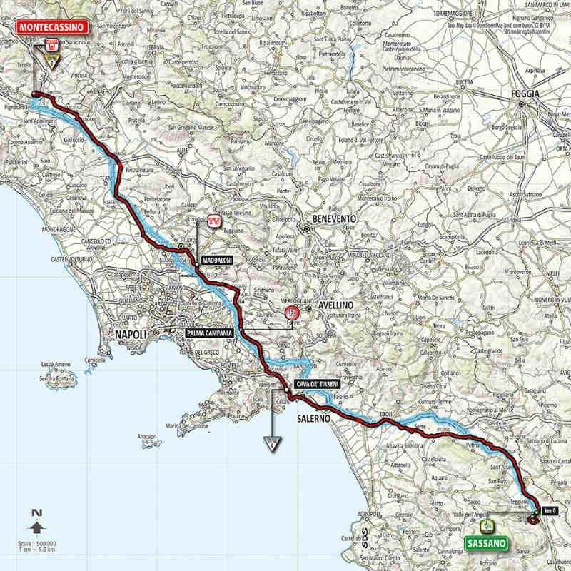 Mapa de como es la sexta etapa del giro de italia 2014