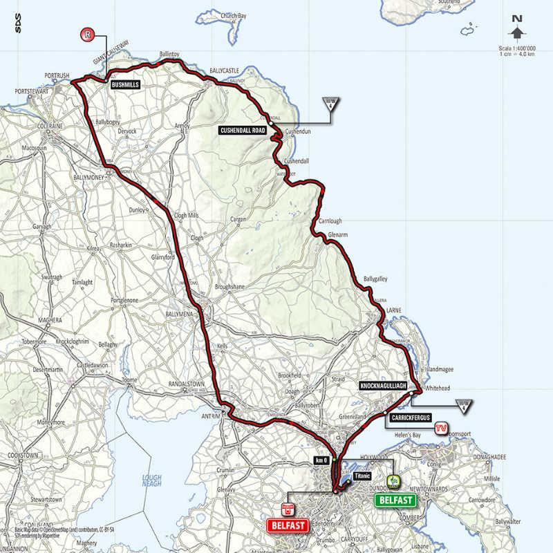 Mapa de la segunda etapa del Giro de Italia 2014