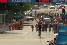Señor ciclista español Le falta una vuelta del AMGEN Tour de California 2014