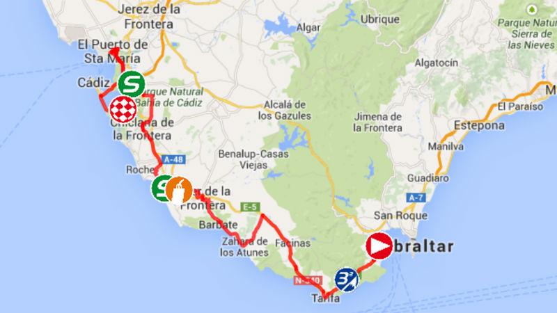 mapa de como es la etapa 2 de la Vuelta a Espana 2014
