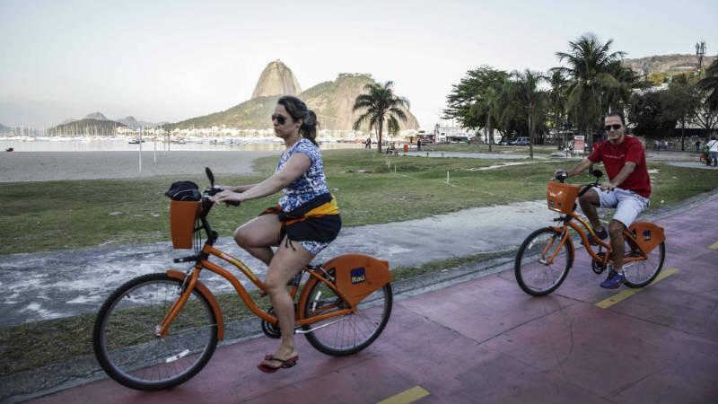 Obras de mejora de ciclovias en Rio de Janeiro Botafogo Brasil