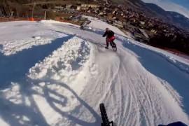 Excelente video de Downhill MTB en la nieve