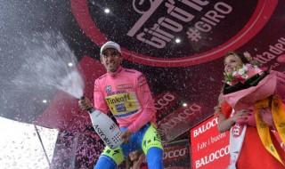 Alberto Contador quinta etapa del Giro de Italia Maglia Rosa