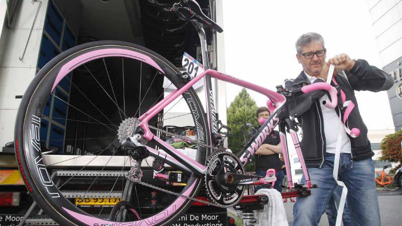 Conoce la bicicleta Specialized S Works Tarmac rosada de Alberto Contador Tinkoff Saxo