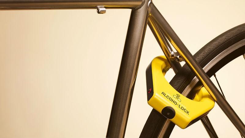 Alcoho-Lock Candado de bicicletas para no beber alcohol y pedalear