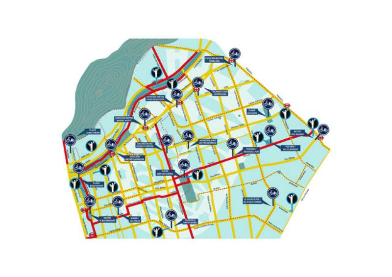 Ciclovías en Chile - Providencia Mapa - CicloMag - Revista de Bicicletas