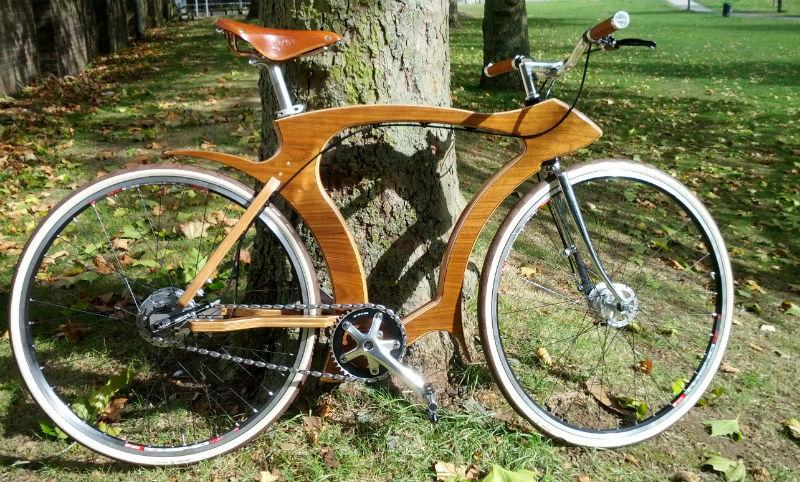 Bicicleta de madera flat frame systems - Revista de Bicicleta