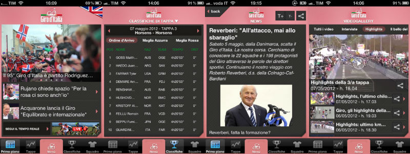 App Oficial Giro de Italia 2013
