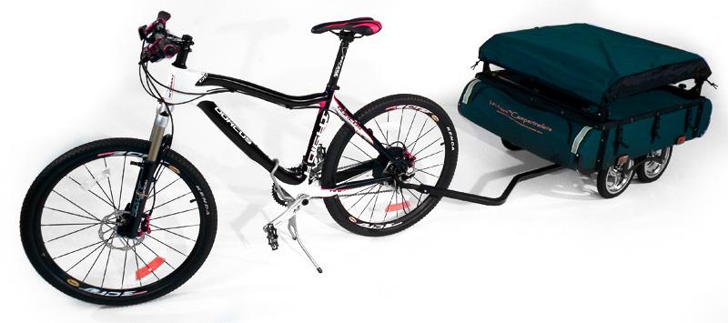 Bushtrekka es una excelente carpa para viajar en bicicleta