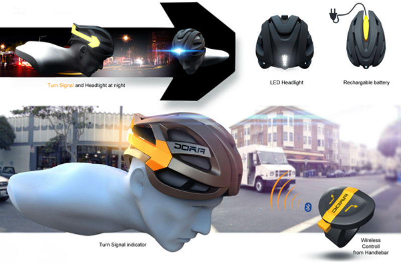 Casco para bicicleta con luces integradas - Dora - Revista de bicicletas