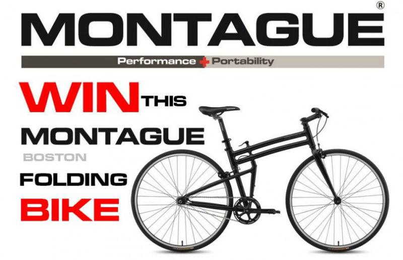 Ganar una bicicleta plegable Montague de tamaño completo
