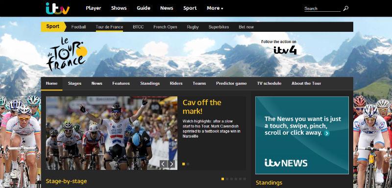Transmision online ver el tour de france 2013 en vivo y directo por ITV ITV4