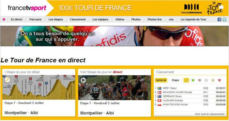 ver el tour de france 2013 en vivo por francetvsport