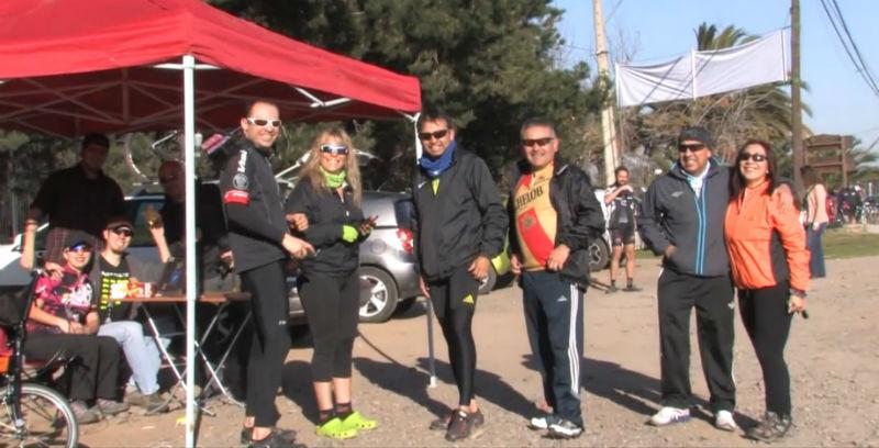 Ciclistas ayudan a Ximena - Bicicletas en Chile
