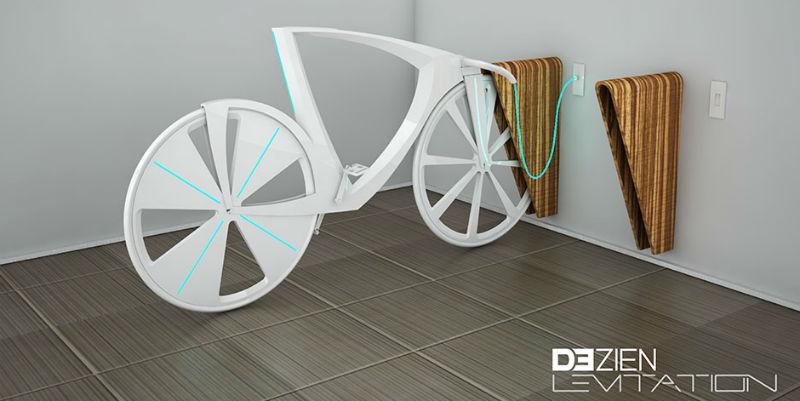Dezien Levitation es una bicicleta del futuro - Conexión pared