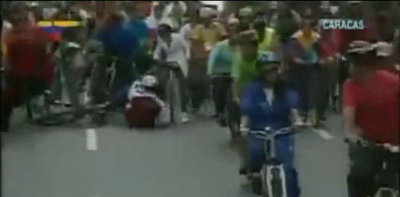 Nicolás Maduro se cayó de su bicicleta