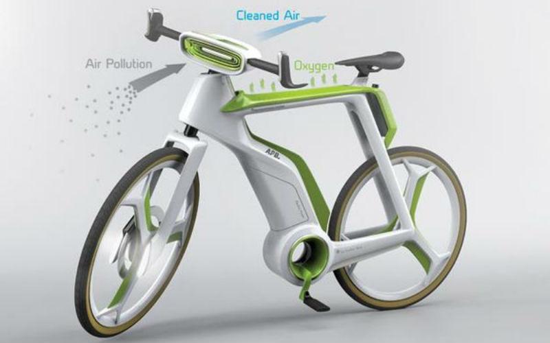 Air Purifier Bike bicicleta innovadora del futuro - Bicis concepto