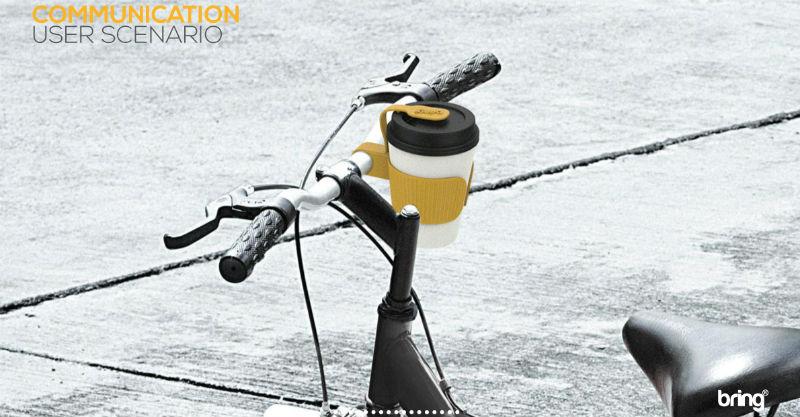 Bring - Accesorio para bicicletas para ciclistas urbanos llevar tazas