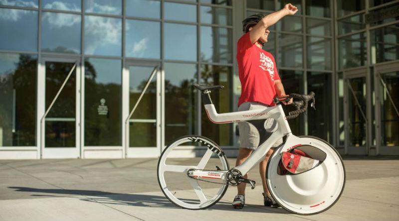 Transport - Bicicleta con portaobjetos integrado - El fin de los portaequipajes para bicicletas