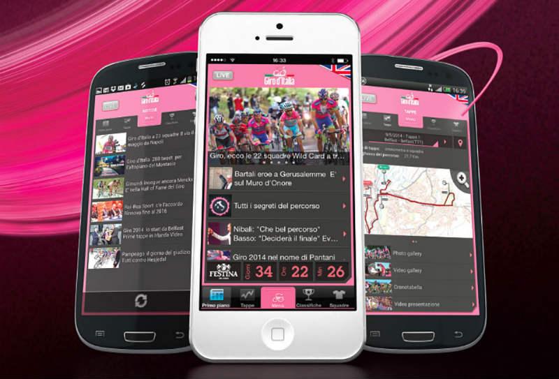 App oficial del Giro d'Italia 2014 para seguir en Giro de Italia 2014 en vivo Android iOS