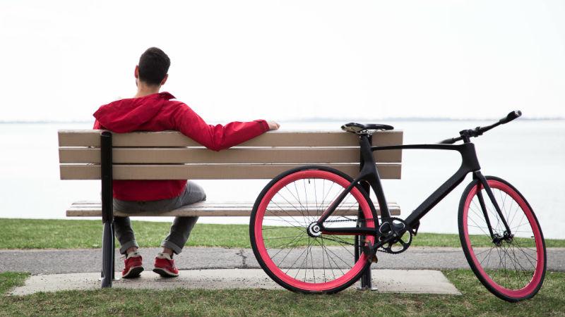 Bicicleta de fibra de carbono inteligente Smartbike Vanhawks