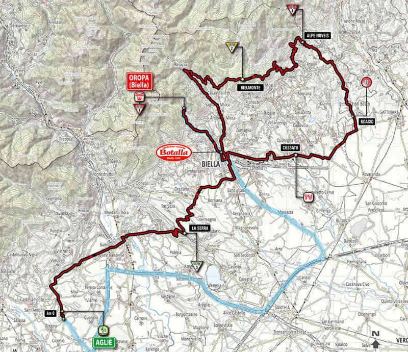Mapa Como es la etapa 14 del Giro de Italia 2014