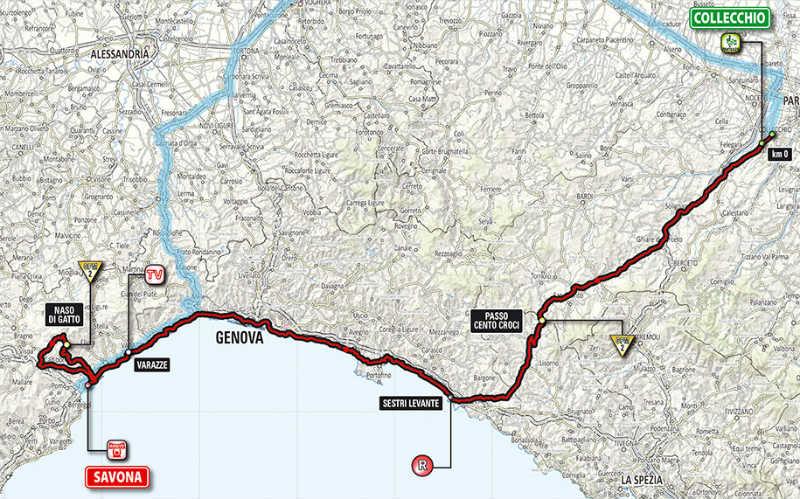 Mapa como es la etapa 11 del Giro de Italia 2014