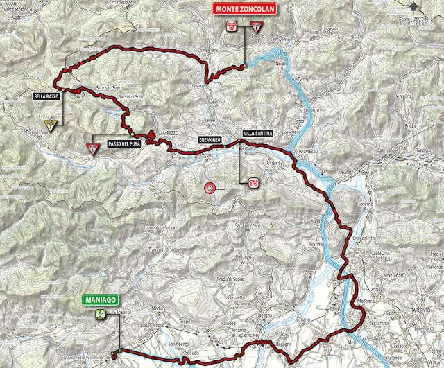 Mapa como es la etapa 20 del Giro de Italia 2014