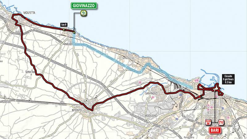 Mapa de como es la etapa 4 del Giro dItalia 2014