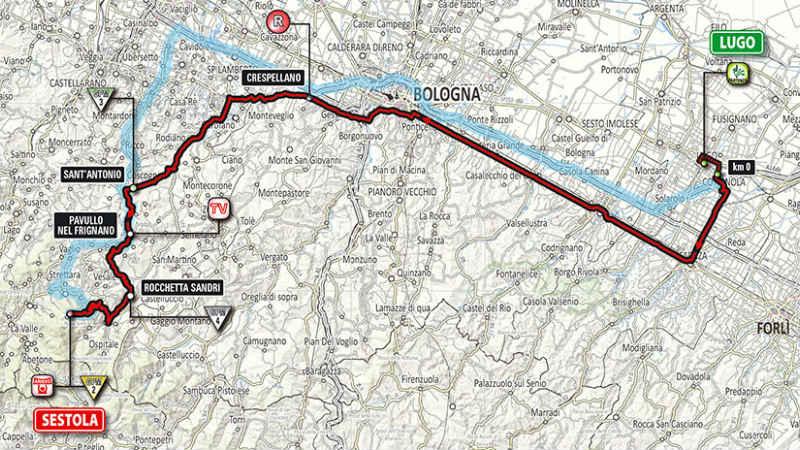 Mapa de como es la etapa 9 del Giro de Italia 2014
