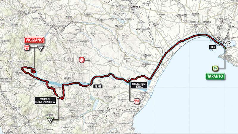 Mapa de como es la quinta etapa del Giro 2014