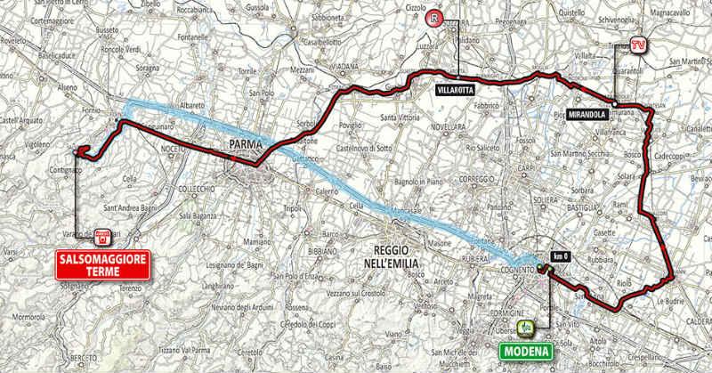 Mapa para conocer como es la etapa 10 del Giro de Italia 2014