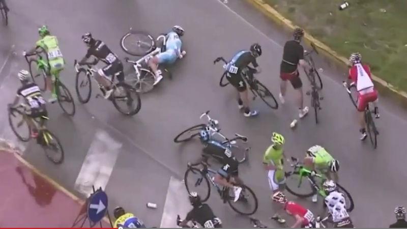 Ver el video de la dura caida masiva en la etapa 6 del Giro 2014 Giro de Italia 2014