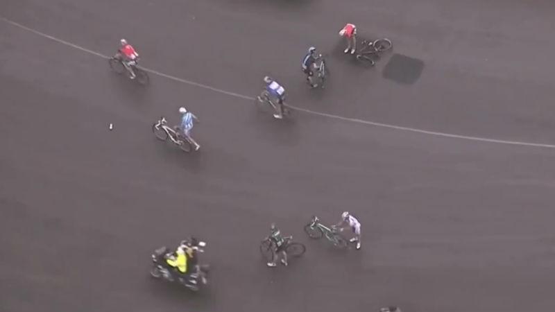 caida en la cuarta etapa del Giro de Italia 2014