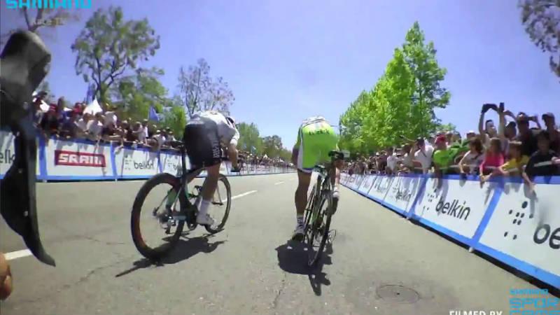 conoce que sucede en el peloton en el sprint final de una etapa del Tour de California 2014