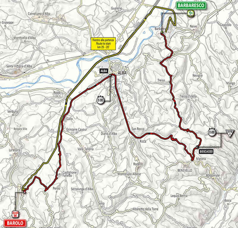 mapa como es la etapa 12 del Giro de Italia 2014