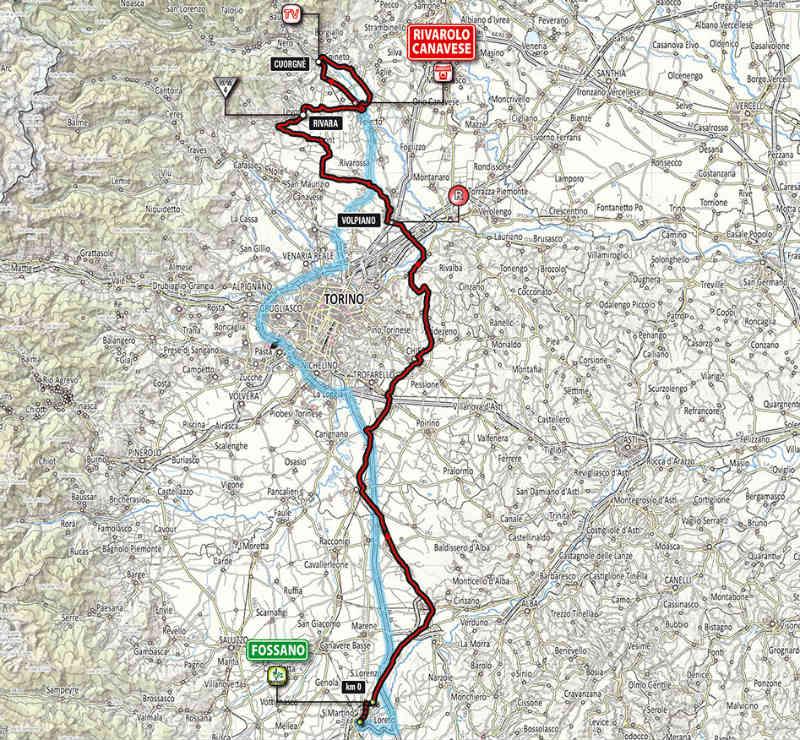 mapa como es la etapa 13 del Giro de Italia 2014
