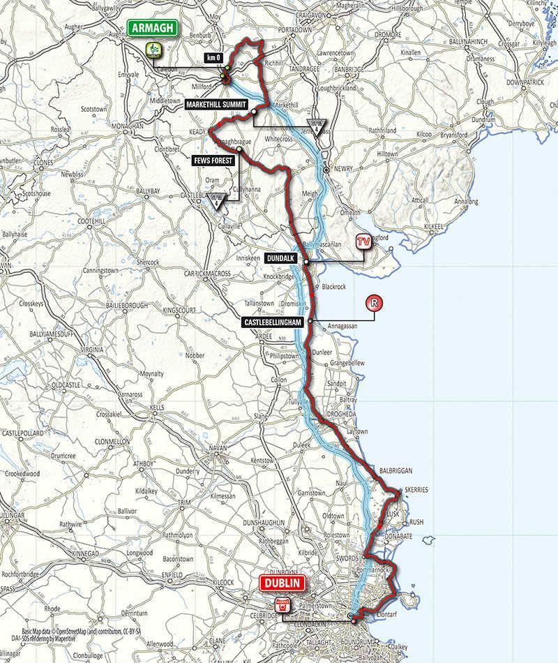 mapa de la tercera etapa del Giro de Italia 2014
